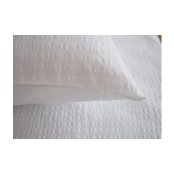Krepp Párnahuzat (60x80, percale, fehér)