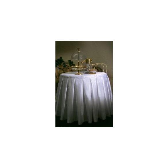 Szatén asztalszoknya (1.5x, rakott)