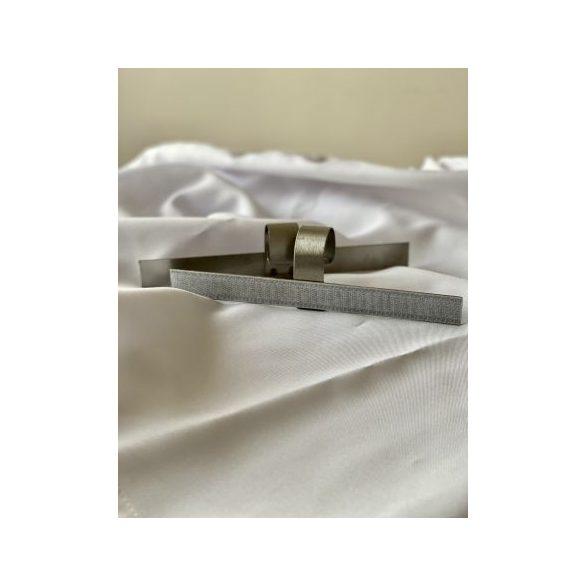 Asztalszoknya csipesz (fém, tépőzáras, 20cm előlapos)